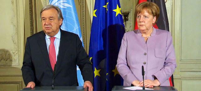 ميركل : بهذه الطريقة فقط يمكن ضمان عودة اللاجئين من دول الجوار و ربما من ألمانيا إلى سوريا