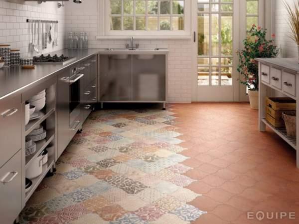 Motif lantai keramik dapur