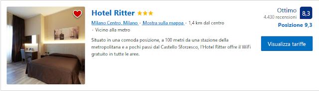 Hotel Ritter Milano -  Vicino alla metro, situato in una comoda posizione, a 100 metri da una stazione della metropolitana e a pochi passi dal Castello Sforzesco, l'Hotel Ritter offre il WiFi gratuito in tutte le aree.