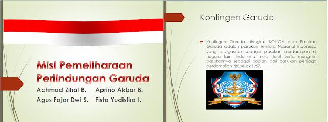 Presentasi Sejarah Indonesia Misi Perlindungan Kontingen Garuda