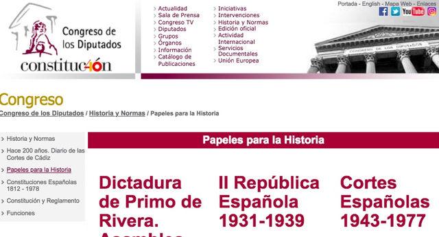 La web del Congreso de los Diputados evita calificar como dictador a Franco