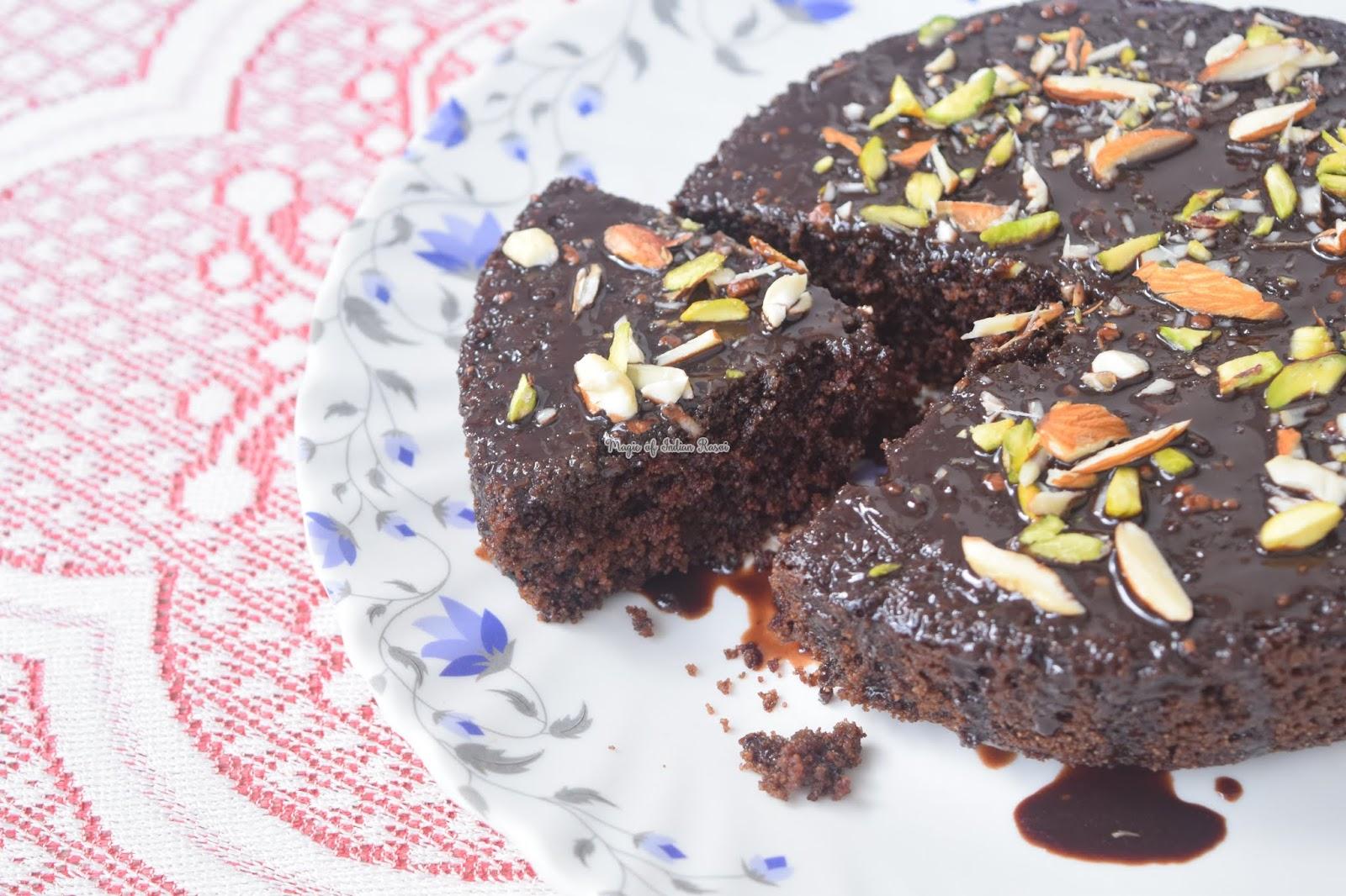 Chocolate Rava/Semolina Cake Recipe (Bakery Style) | Magic ...