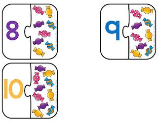 Rompecabezas de números para preescolar