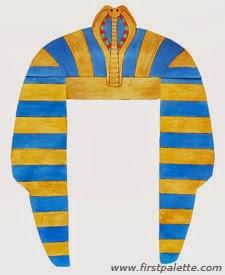 egyptian masks templates - manualidades adornos para disfraz egipcio