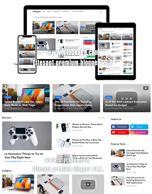 Download free litespot premium blogger v1.2