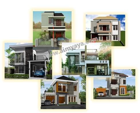 Gambar: Ilustrasi berbagai rumah minimalis