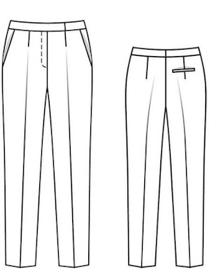 an image of a sewing pattern for pants