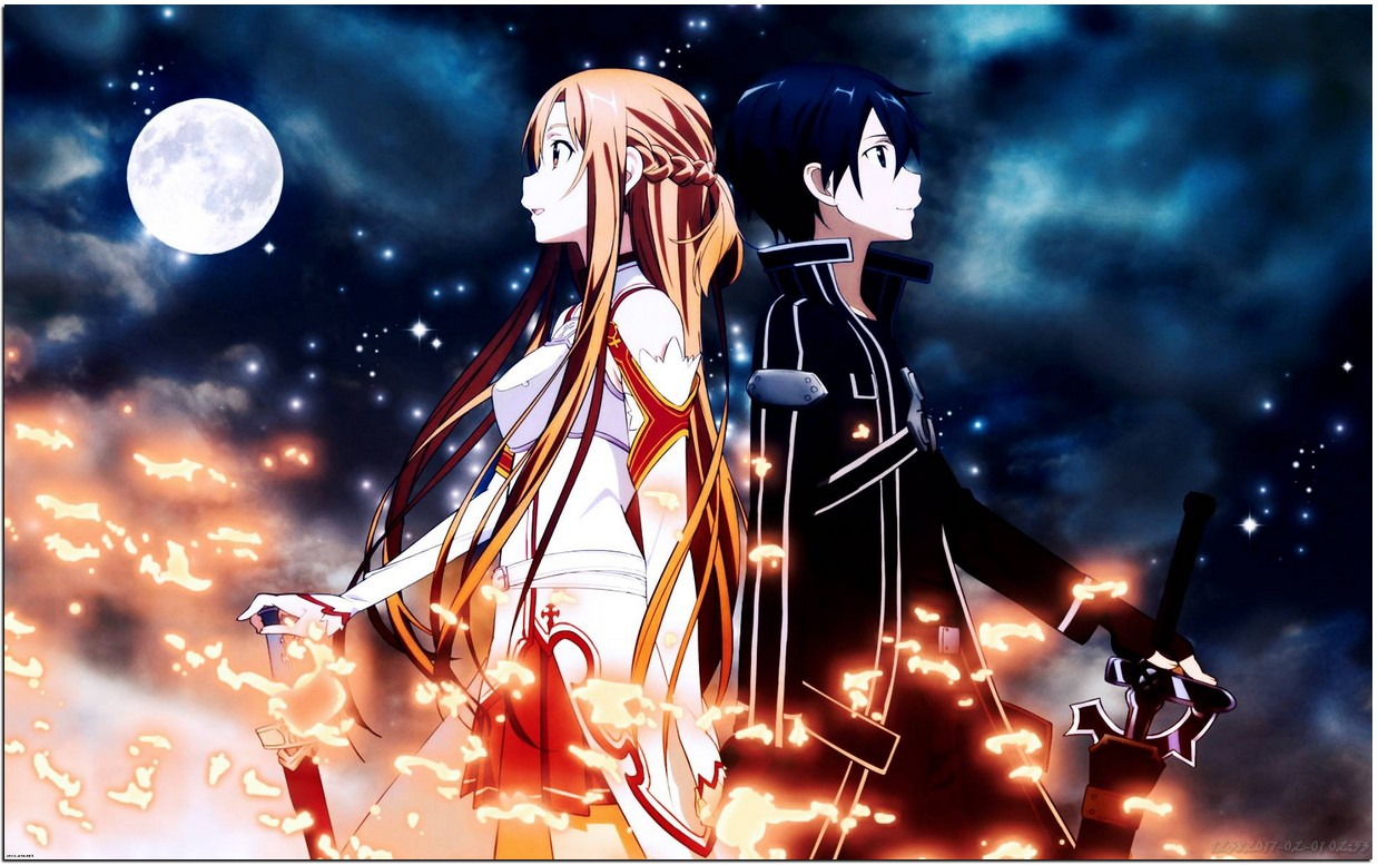 Kirito And Asuna Sword Art Online Hd Wallpaper Wallpaper