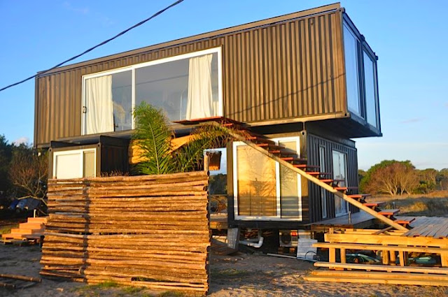 2x40 ft and 2x20 ft Shipping Container Home by Project Container, Uruguay 4