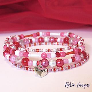 heart love charm bracelets sweetheart women's memory wire