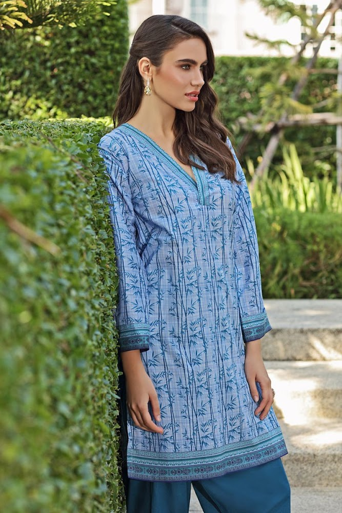 Gul Ahmed Lawn Sky Blue Shirt Unstitched