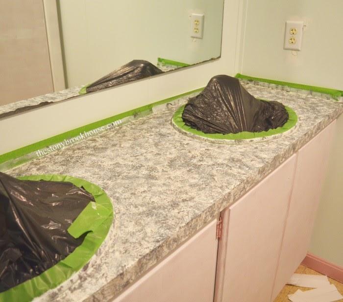 Painting faux granite countertops