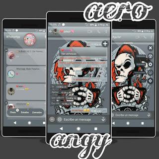Horror Skull Theme For YOWhatsApp & Fouad WhatsApp By ave fénix