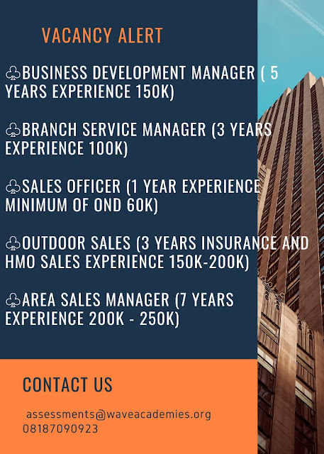 Vacancy for Sales Manager, Business Development Manager and Service Manager