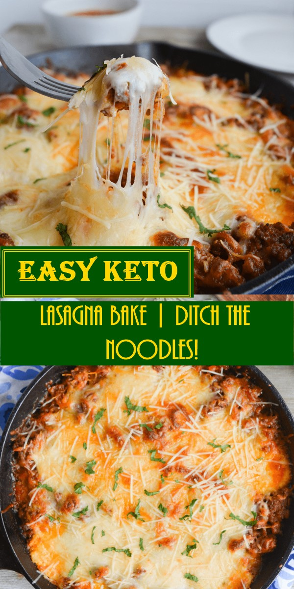 EASY KETO LASAGNA BAKE | DITCH THE NOODLES! #Dinnerrecipes