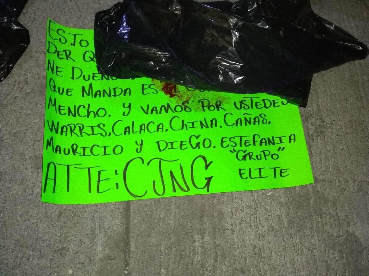 Localizan cuerpo de un hombre con mensaje del CJNG en Cortazar, Guanajuato