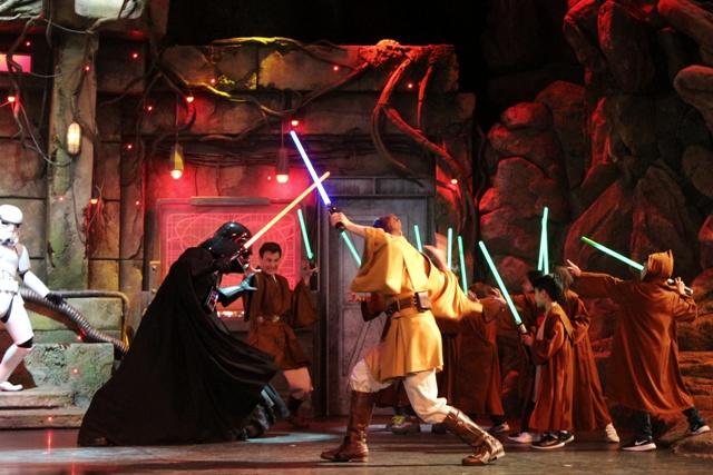 Espectaculo Jedi en Videopolis