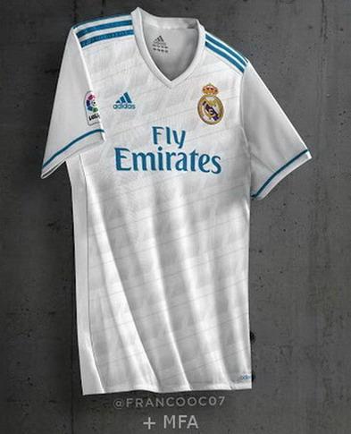 43e70b766a718 La base de color negro de la Equipacion del Real Madrid 2017 2018 Segunda  se combina con detalles de color verde brillante.
