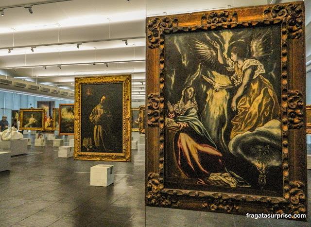 """""""A Anunciação"""", de El Greco, no MASP - Museu de Arte de São Paulo,"""
