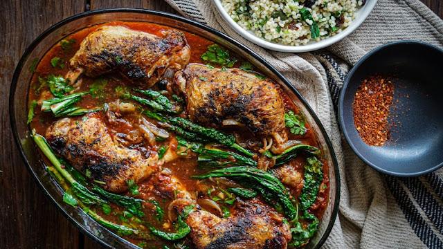 Speedy Syrian chicken bake