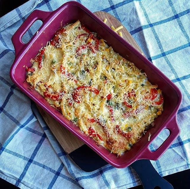 Gratin de macaronis aux légumes healthy Charlotte and cooking