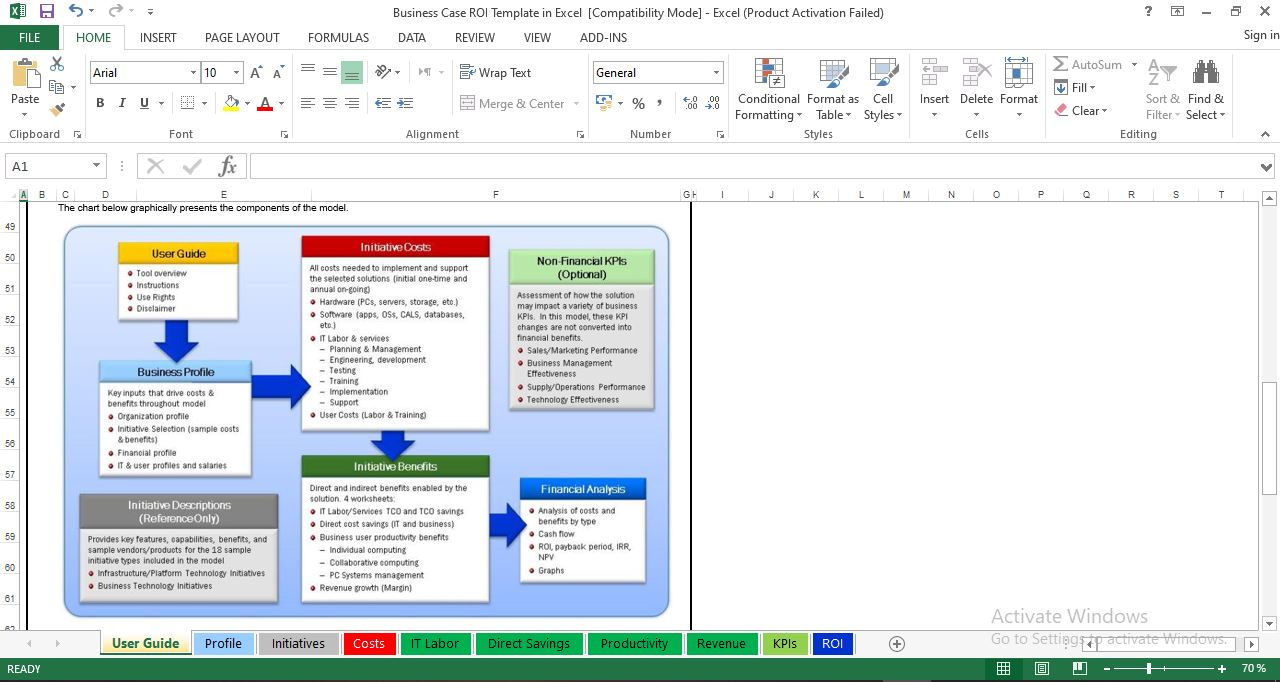 Business Case ROI Template in Excel