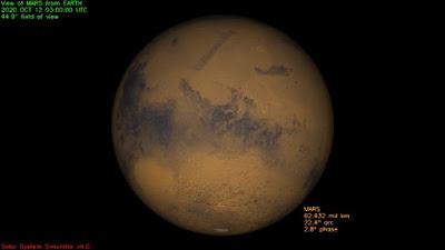Mars from JPL Solar System Simulator