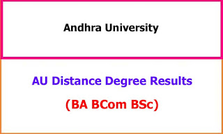 AU Distance Degree Exam Results 2021