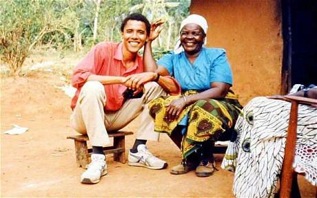 Barack Obama and Mama Sarah Obama