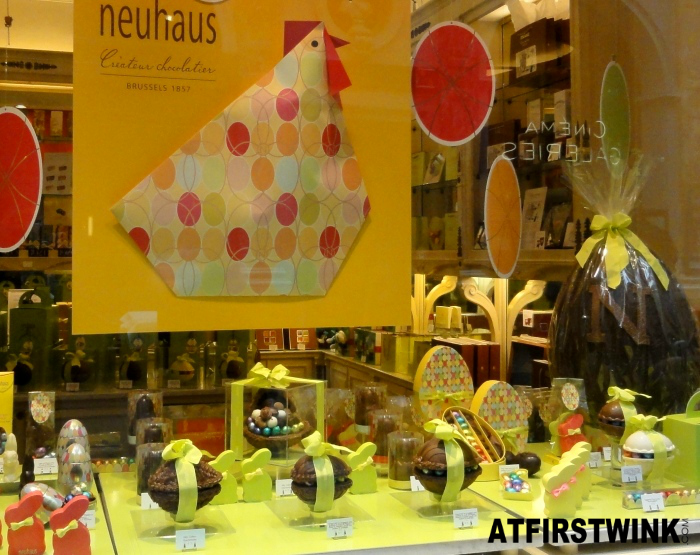 neuhaus Easter themed shop window