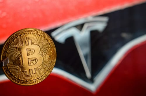 Tesla's share price declined because its share price was correlated with Bitcoin's value