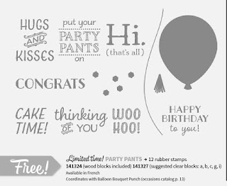 Image of Stampin'UP!'s Party Pants stamp set