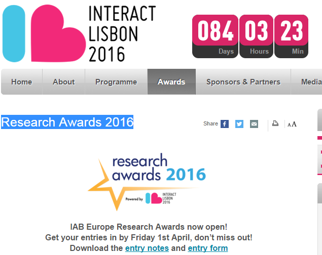 Europe Research Awards