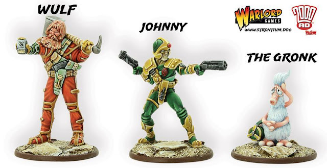 Warlord Games: Strontium Dog - Johnny Alpha, Wulf and The Gronk Characters Preview