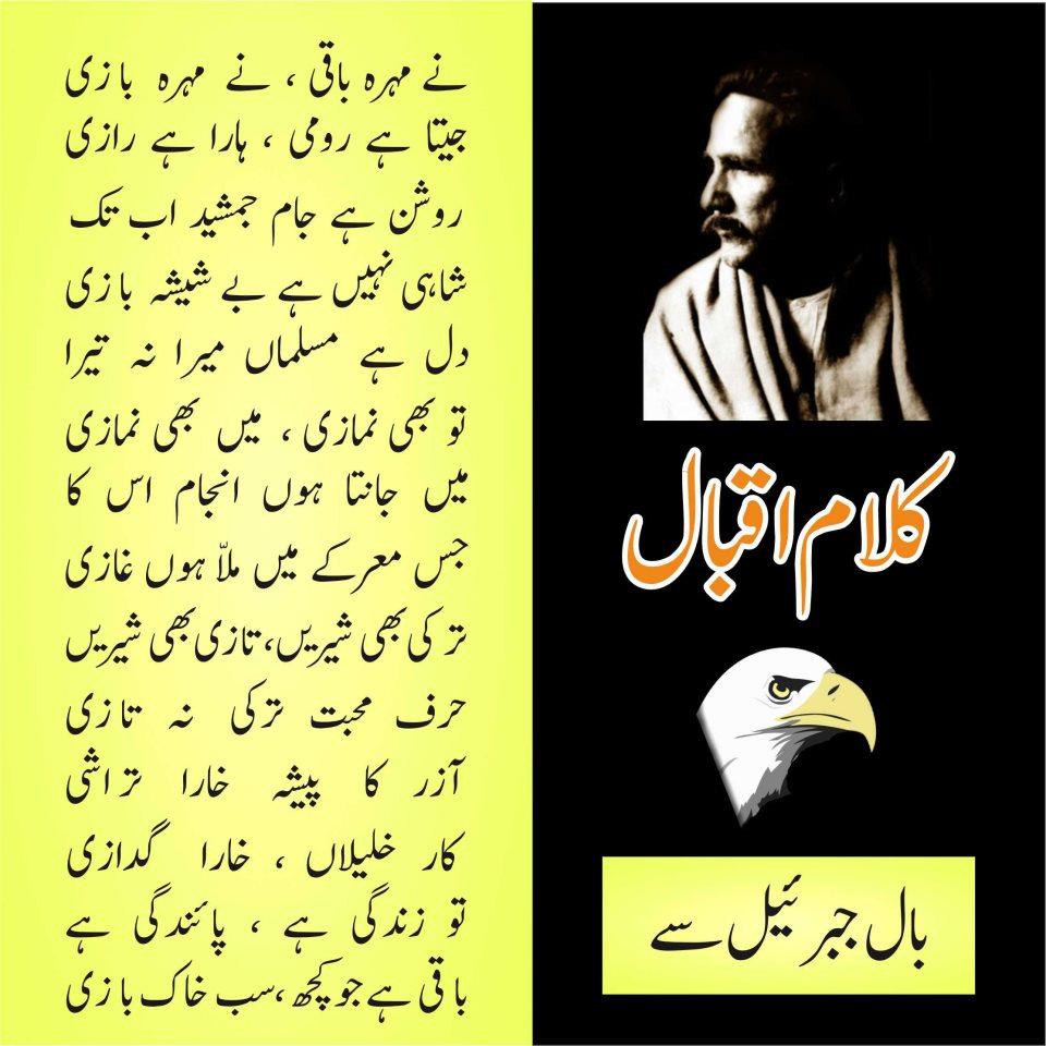 Iqbal Urdu Shayari Images: Malik TV KTS: Allama Iqbal Shayari