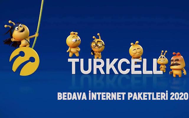2020 Turkcell Bedava İnternet Paketleri