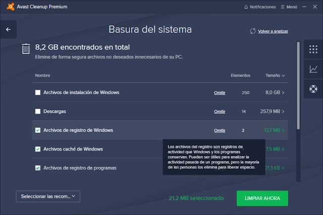 Avast Cleanup Premium Full imagenes