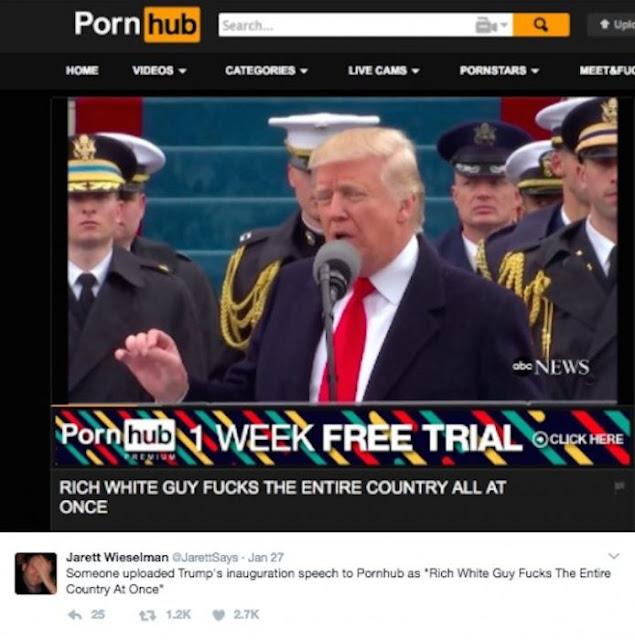 Página para adultos sube video de Trump con esta leyenda