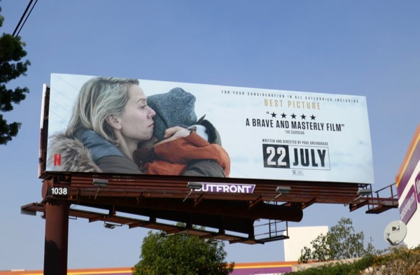 22 July movie FYC billboard