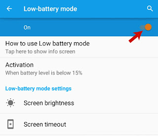 Enable Low-Battery Mode