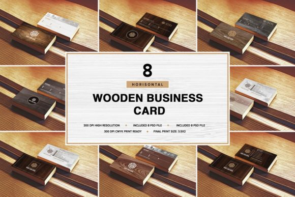 Wooden Business Card Pack [Horisont][Photoshop][PSD][6039062]