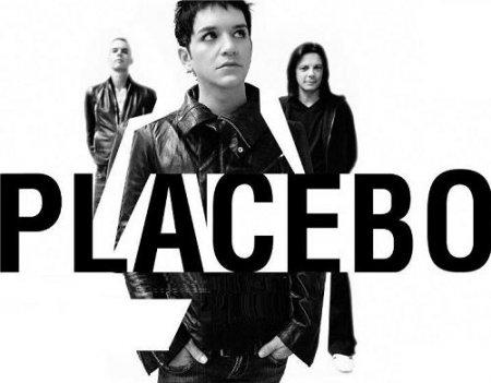 Grupo o banda Placebo en blanco y negro