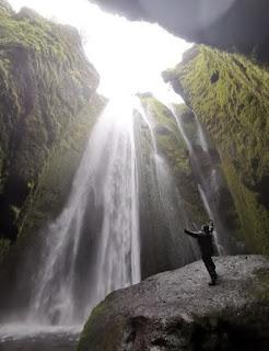 Cascada Gljufrafoss, Islandia, Iceland.