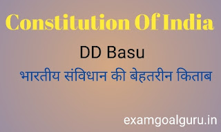 Indian constitution by dd basu book