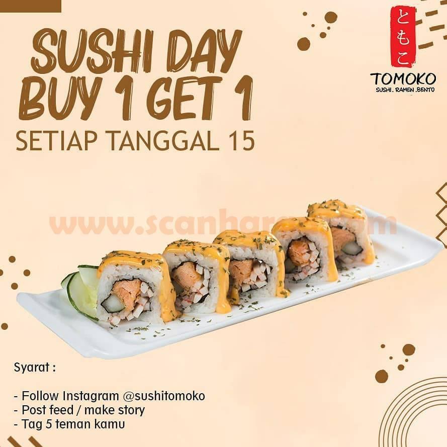 Sushi TOMOKO Promo Sushi Day Beli 1 Gratis 1