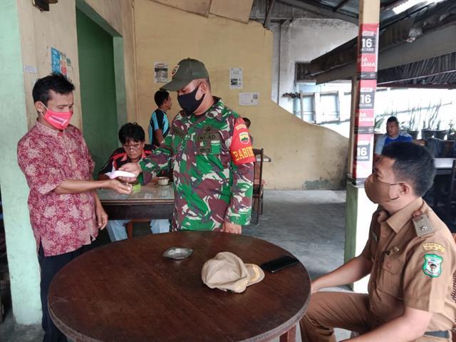 Personel Jajaran Kodim 0207/Simalungun Laksanakan Kegiatan PPKM Skala Micro Diwilayah Binaan