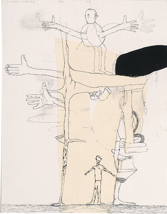 Tekening Roland Sohier, Fitter-Happier