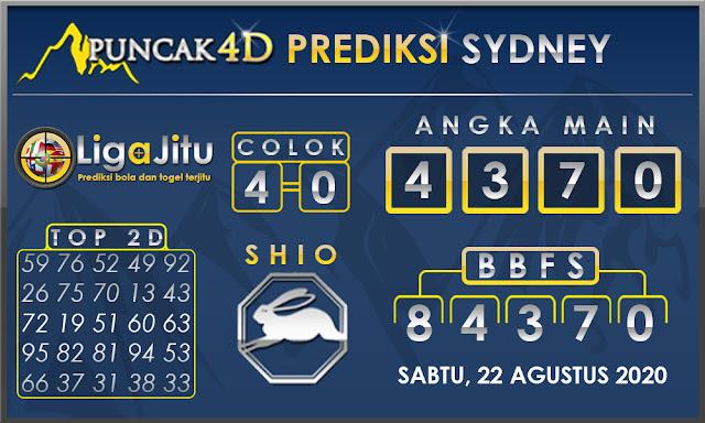 PREDIKSI TOGEL SYDNEY PUNCAK4D 22 AGUSTUS 2020