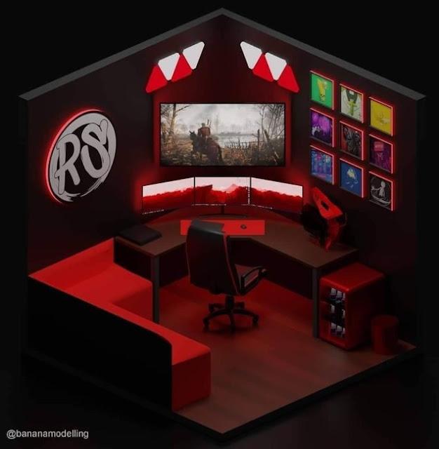Konsep Desain Ruang Komputer Keren Untuk Gamers