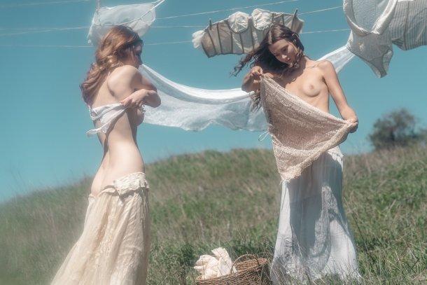 Piers Bosler fotografia mulheres modelos fashion sensuais provocante laundry day nudez impressionante